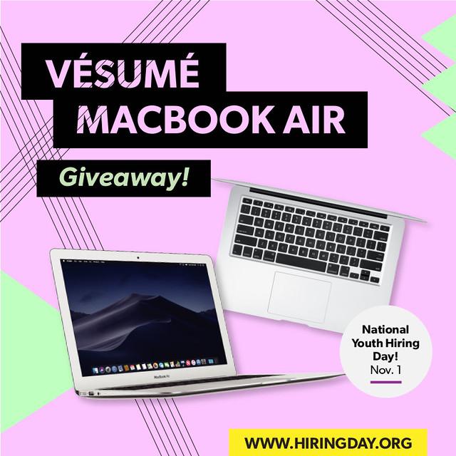 Macbook air 2018 giveaways