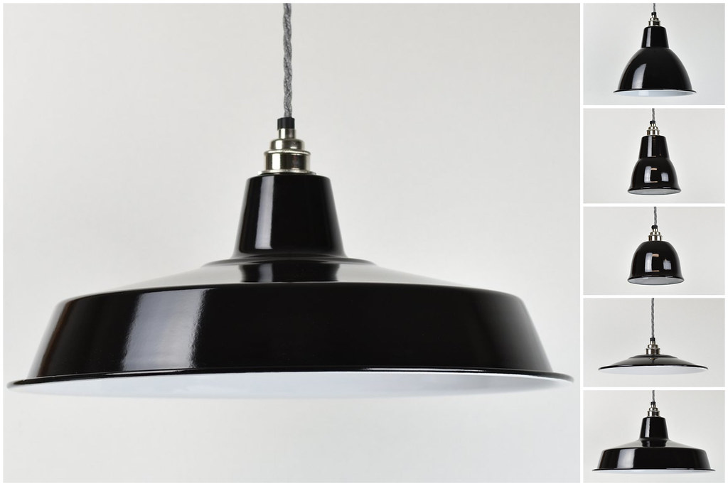 Small Bell Cup Vintage Industrial Factory Enamel Shade Lampshade Steel Pendant