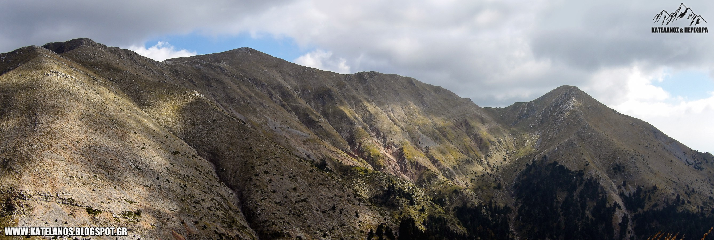 δυτική πλευρά κατελάνος βουνο κορυφή παναιτωλικού όρους