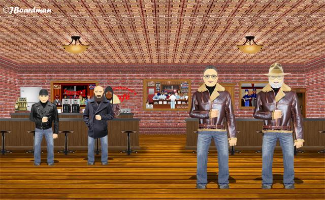 Inside Silverthorn's Café ©J. Boardman