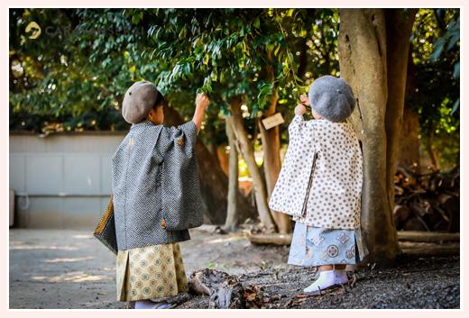 知立神社にご参拝♪兄弟で七五三のロケーションフォト(愛知県知立市) ベレー帽