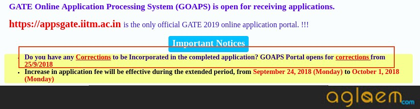 GATE 2019 Application Form Correction Window Opens On September 25; Candidate Can Now Apply Until October 01, 2018 With Late Fee