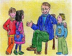 parlare di salute con il nonno di Raffaello