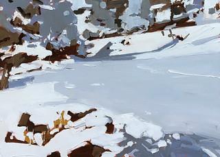 Side Yard Snow by Scott Lancashire