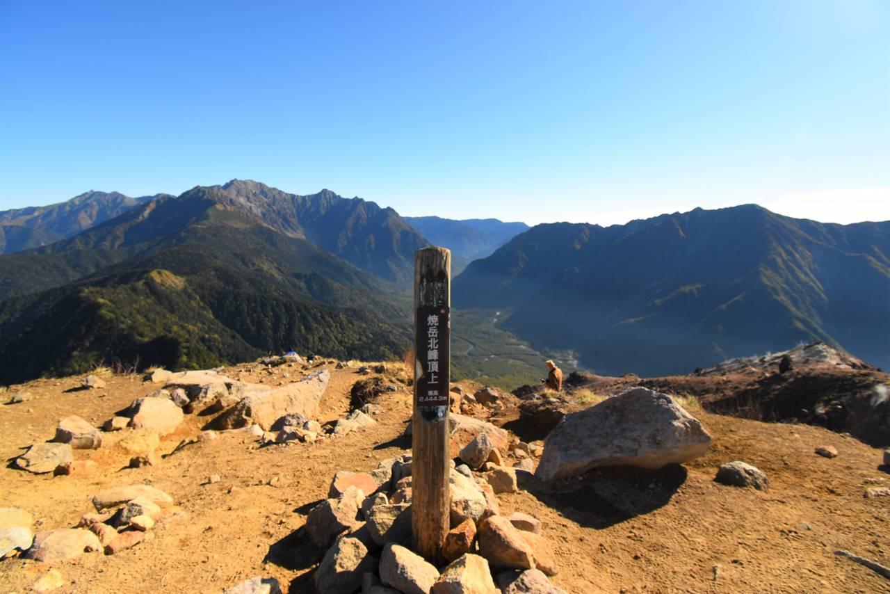 焼岳北峰山頂標識
