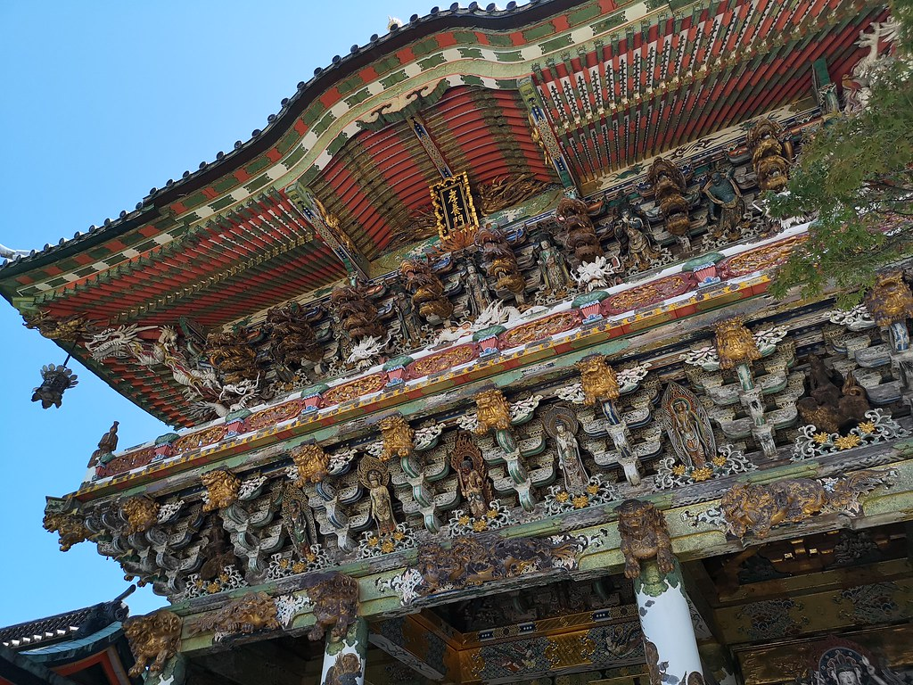 The Kosanji Temple consists of more than 20 buildings, representing eras from the Asuka (538-710) to the Edo (1603-1868). Many of them sport garish detail like this one.