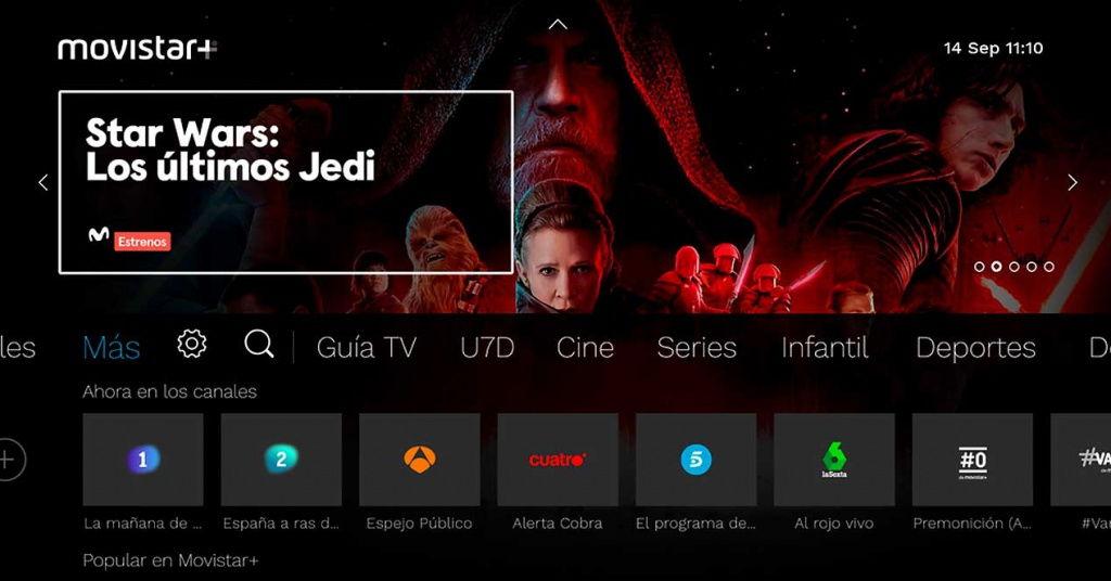 La nueva interfaz para SmartTV de Movistar+ ya disponible