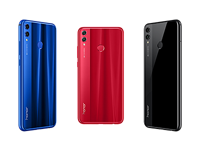 At launch, the Honor 8X will be available in Black and Blue, with the Red color available at a later date.