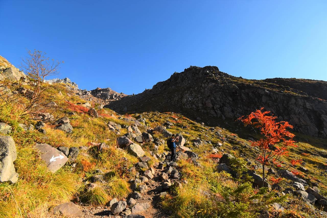 秋の焼岳 日帰り登山