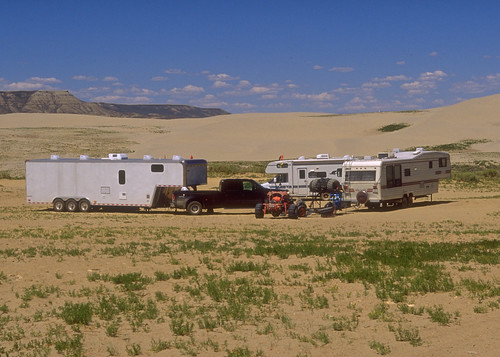 RVs in the Greater Sand Dunes SRMA