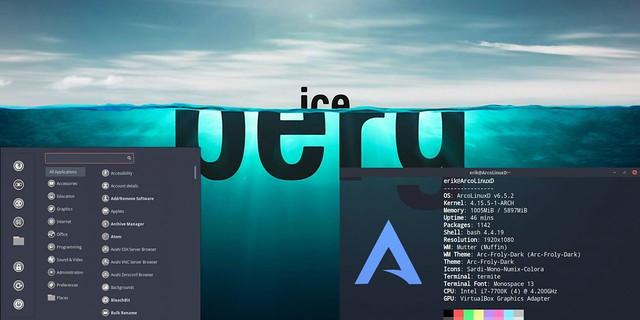 ArcoLinux-cinnamon-iceberge