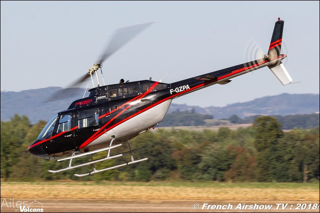 206B Jet Ranger III - F-GZPA , Ailes et Volcans - Aérodrome d'Issoire - Le Broc , Cervolix 2018 & La Montagne , Canon EOS , Sigma France , contemporary lens , Meeting Aerien 2018