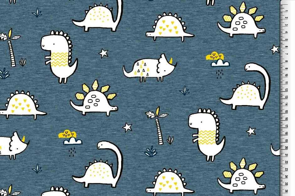 Softshell Dino, blau-gelb