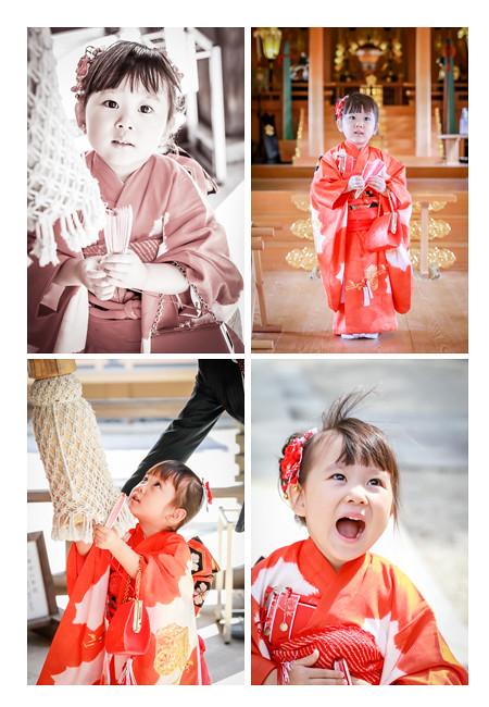 3歳の女の子の七五三ロケーションフォト/景行天皇社(愛知県長久手市)