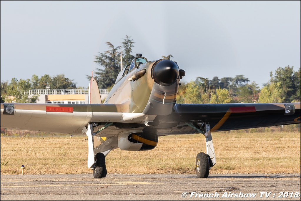 Hawker Hurricane Mk IIa F-AZXR , Meeting aérien Des Étoiles et des Ailes 2018 - Aéroport de Toulouse Francazal , Canon EOS , Sigma France , contemporary lens , Meeting Aerien 2018