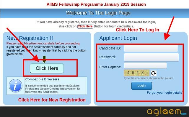 AIIMS Fellowship 2019 Login   Get Here Online Login For AIIMS Fellowship 2019