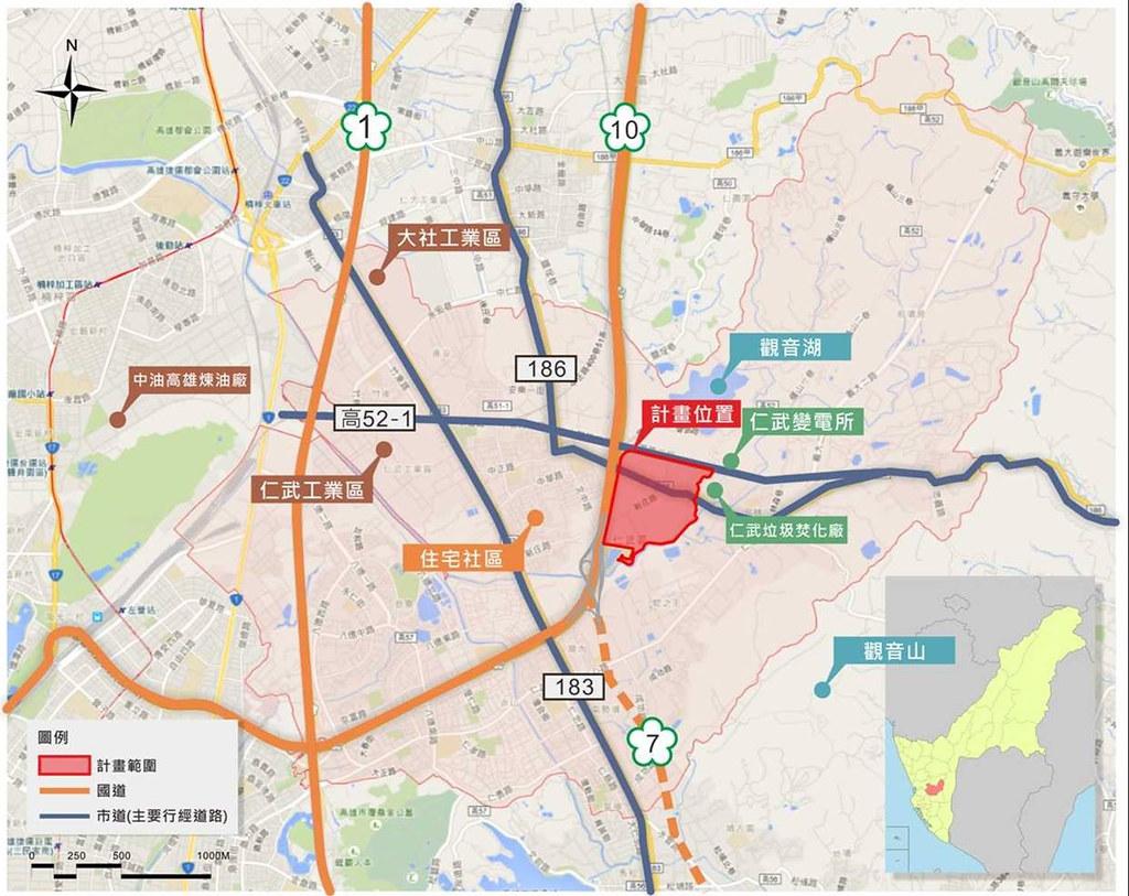 高雄仁武產業園區開發計畫。圖片來源:經濟部工業局。