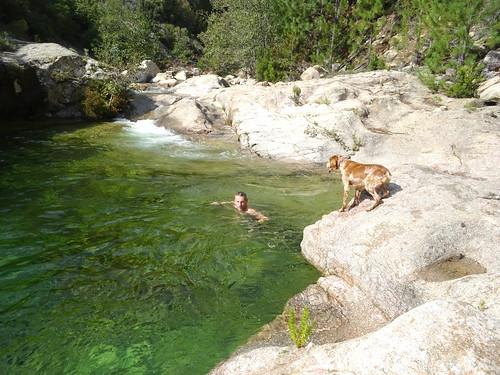 Vasques de la confluence Carciara/Peralzone : baignade mi-octobre avant le spuntinu !