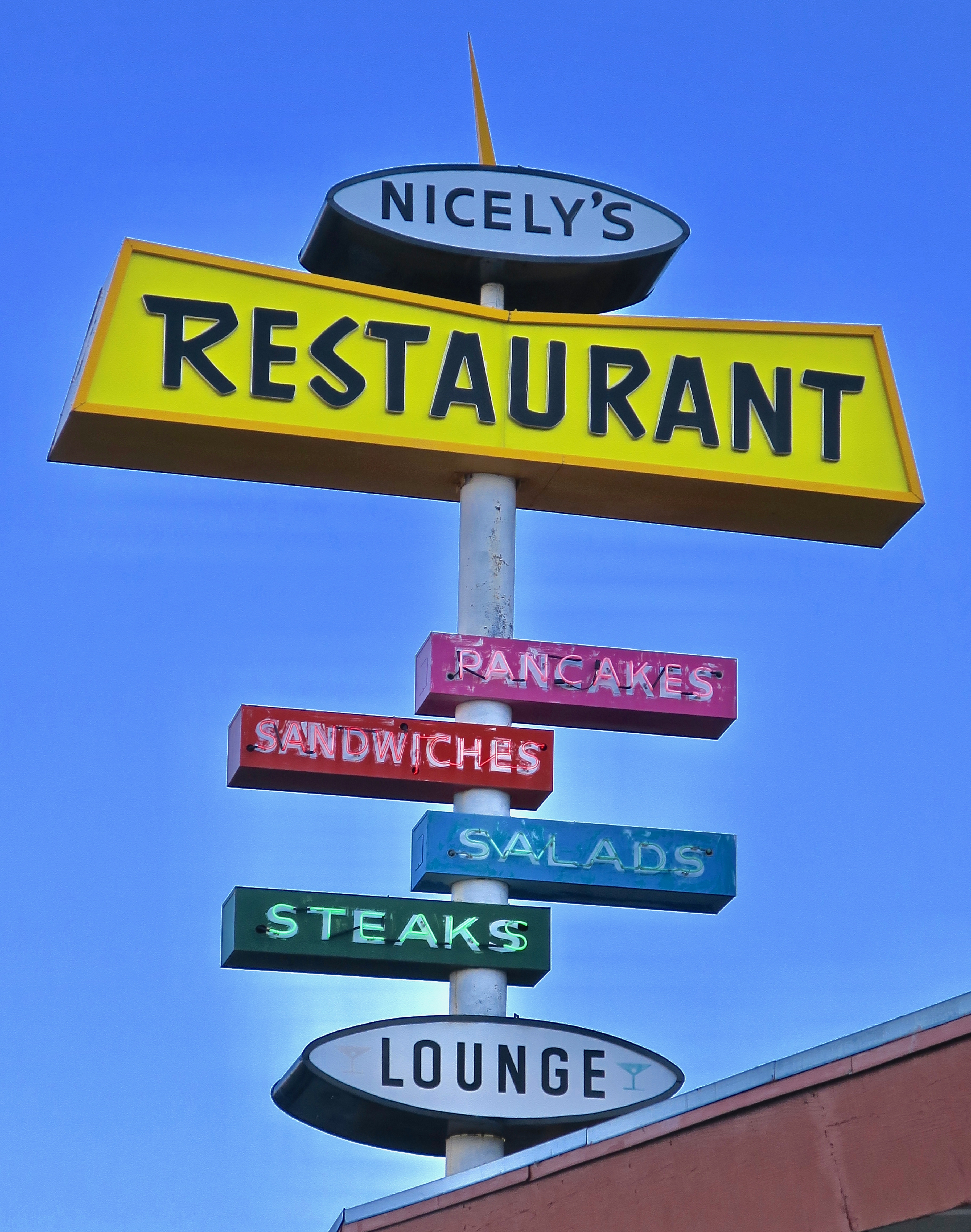 Nicely's Restaurant - U.S. 395, Lee Vining, California U.S.A. - July 28, 2017