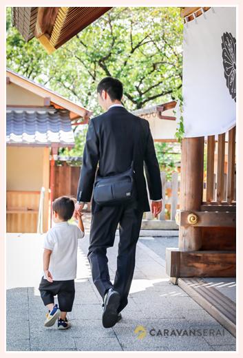お宮参り 父と息子