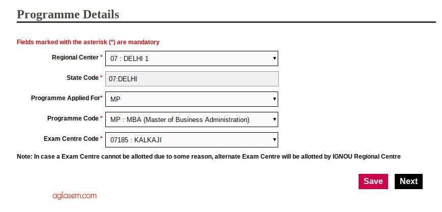 IGNOU OPENMAT 2019 Form Programme Details