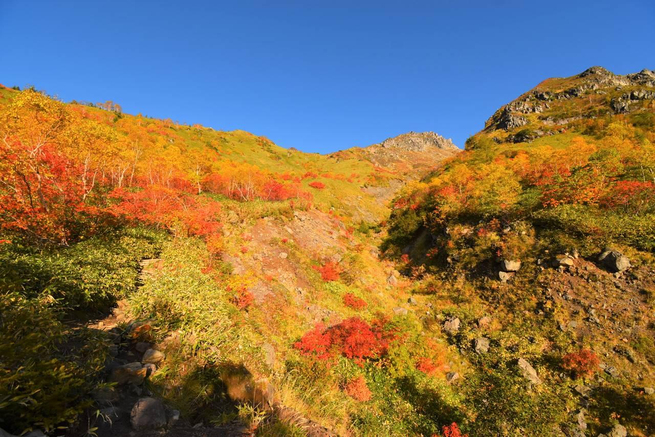 北アルプス焼岳 紅葉登山