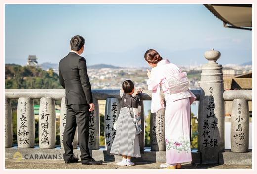 犬山成田山で七五三の前撮り 愛知県