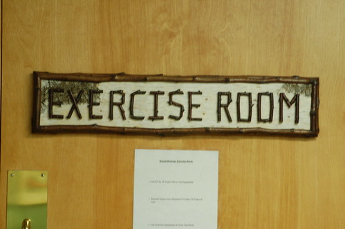 Way finding sign to the exercise room samantha rhow flickr
