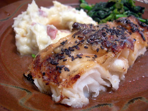 Grilled Sea Bass with Miso Glaze and Sake Butter   Jeff King   Flickr