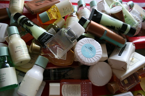A lot of free toiletries | by tiddlywinker
