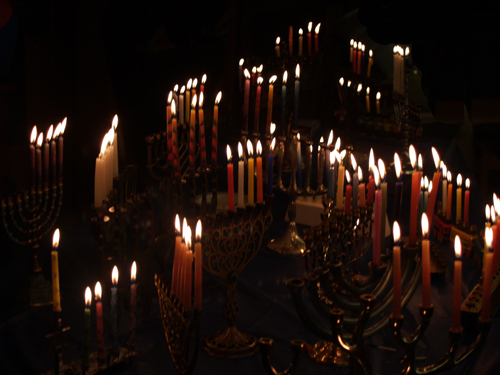 Hanukkah fourth night candles | by Len Radin
