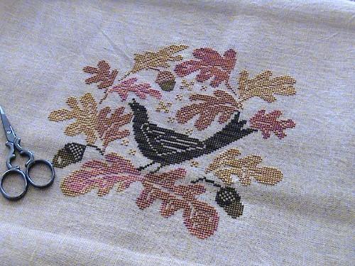 Autumn song blackbird designs october 2007 wakana b for Blackbird designs english garden