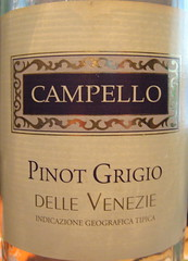 Campello 2007 Pinot Grigio (front) | by 2 Guys Uncorked