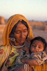 Portrait woman and child with traditional jewels. India | by World Bank Photo Collection