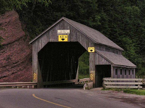 Irish River Covered Bridge New Brunswick Canada | by threesalmon