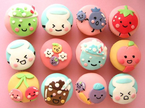 puccho (japanese candy) cupcakes!!! | by hello naomi