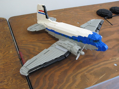 how to build a lego plane