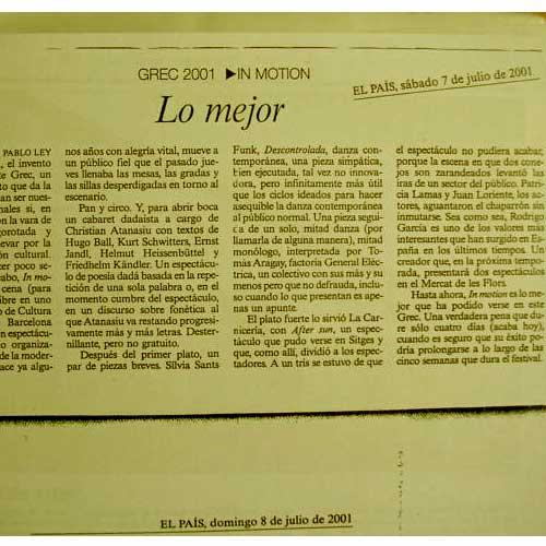 innmotion 2001 - Prensa