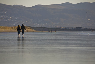 A couple (two people) walking the Morro Strand State Beach, Morr | by mikebaird