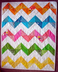 zig zag baby quilt (adapted from Purl Bee and Denyse Schmidt's Big Zig) | by blempgorf