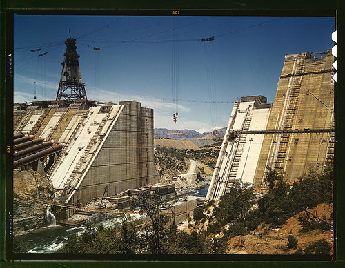 Shasta dam under construction, California  (LOC) | by The Library of Congress