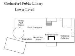 Floorplan - Lower Level | by chelmsfordpubliclibrary