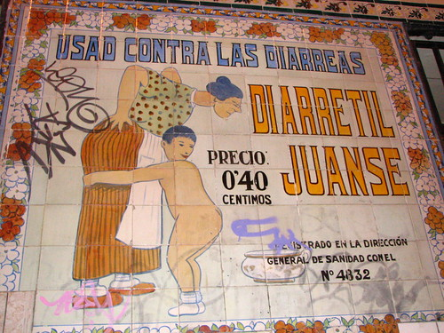Vintage Pharmacy Sign for Diarrhea Remedy, Madrid | by SeppySills