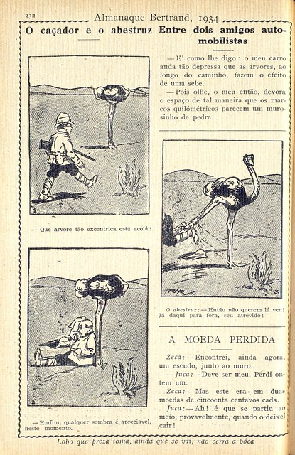 Almanaque Bertrand, 1934 - The hunter and the ostrich 35
