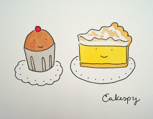 Chocolate Cupcake and Lemon Meringue Pie | by cakespy