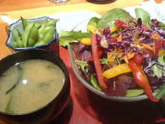 Soup and salad | by clotilde