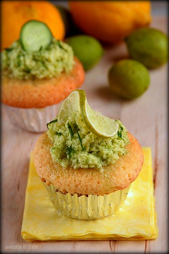Lime Caramel Cupcake with Cucumber Frosting | by Pinot & Dita
