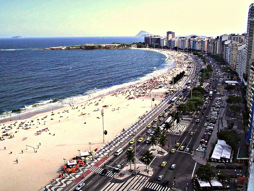THE FAMOUS RIO DE JANEIRO, BRAZIL COPACABANA BEACH. Shot from the hotel poolside penthouse | by Hank LeClair