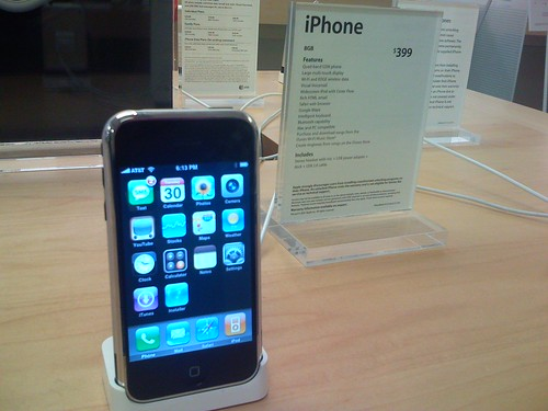 Jail broken iPhone at the apple store Grand Rapids, Mi | by bjosefowicz