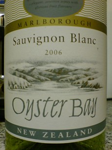 Oyster Bay 2006 sauvignon blanc front | by 2 Guys Uncorked